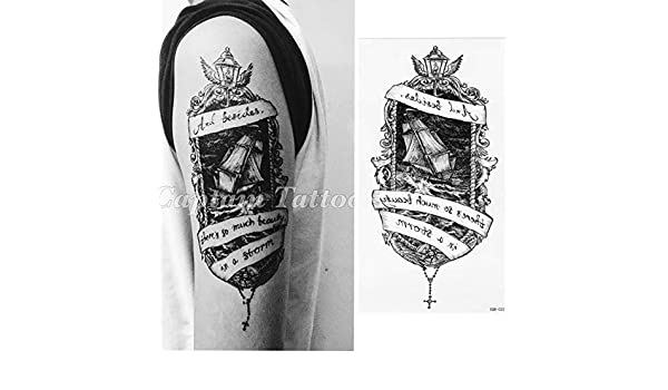 7pcs guerrero tatuaje pieza batalla paisaje cuerpo hermoso cuerpo ...
