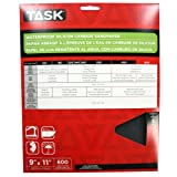 Task Tools PWD54600 9-Inch by 11-Inch Waterproof Silicon Carbide Sandpaper, 600 Grit, 5-Pack