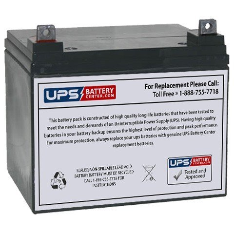 12V 35Ah NB - Replacement battery for Wilderness Tarpon 100 Kayak Trolling Motor by UPSBatteryCenter by UPS Battery Center