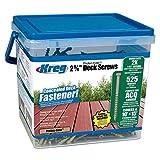 Kreg #8-2-5/8'' Protec-Kote™ Deck Screws (525 per Pack)