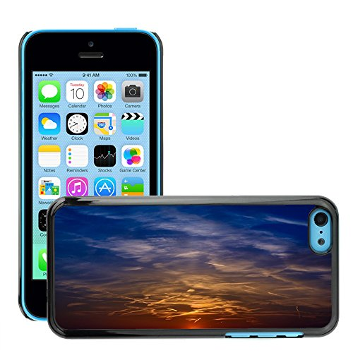 Just Phone Cases Hard plastica indietro Case Custodie Cover pelle protettiva Per // M00421733 Sunset Couleur Sky Afterglow Clouds // Apple iPhone 5C