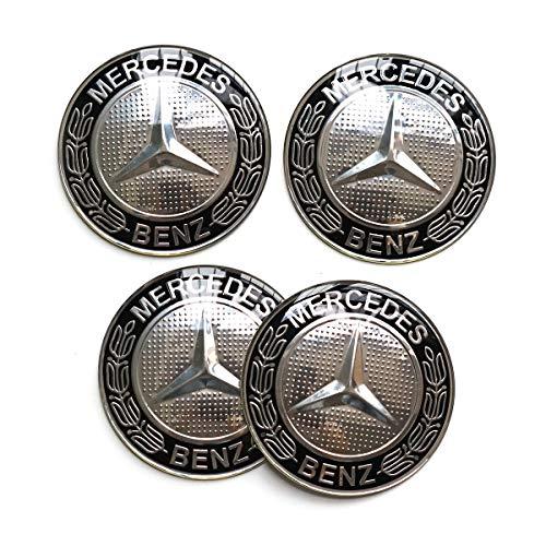 Navy Blue, 56MM MonboAuto 4PCS 56MM 2.2 Emblem Badge Sticker Wheel Hub Caps Centre Cover fit for Mercedes-Benz