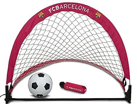 Barcelona FC Skill - Portería de fútbol, Color Rojo: Amazon.es ...