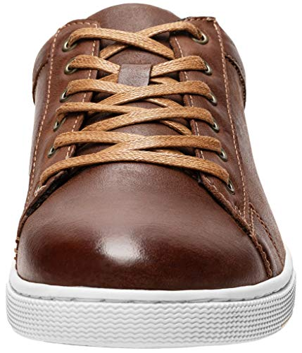 Pictures of JOUSEN Men's Leather Fashion Sneakers Business Classic Leather Fashion Sneaker 7