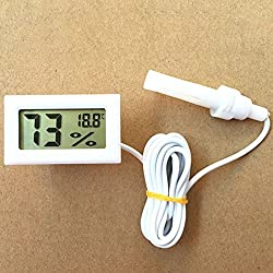 Zehui Thermometer Hygrometer, Mini Digital LCD Humidity Temperature -50Celsius to 70Celsius 10% RH to 99% RH