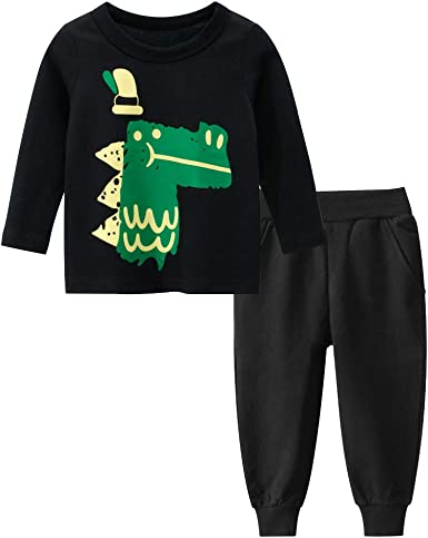 Amazon.com: Toddler Boys Pant Sets Cotton Long Sleeve Tees T-Shirt Pant  2-Piece Clothing Sets for Boys Kids Baby Boy's12 Month - 8T: Clothing