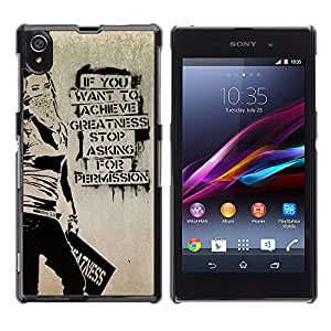 Hot Style Cell Phone PC Hard Case Cover // M00103594 quotes graffiti // Sony Xperia Z1 L39