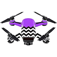 Skin For DJI Spark Mini Drone – Purple Chevron | MightySkins Protective, Durable, and Unique Vinyl Decal wrap cover | Easy To Apply, Remove, and Change Styles | Made in the USA