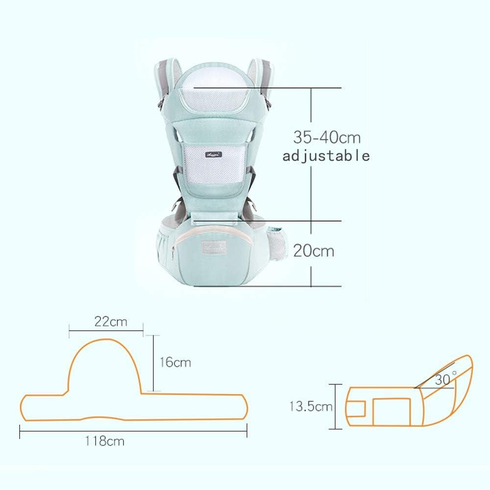 si/ège de hanche l/éger et respirant multiposition dorsal sac /à dos r/églable pour la s/écurit/é des nouveau-n/és et des tout-petits Porte-b/éb/é JYSPT ergonomique ventral