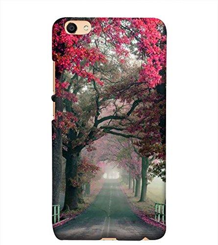 new style 6988b 2a025 PrintVisa Designer Back Case Cover for vivo Y53i :: Y53i :: Vivo Y53 ::  Vivo 1606 (Grey Black Pink Red Flowers)