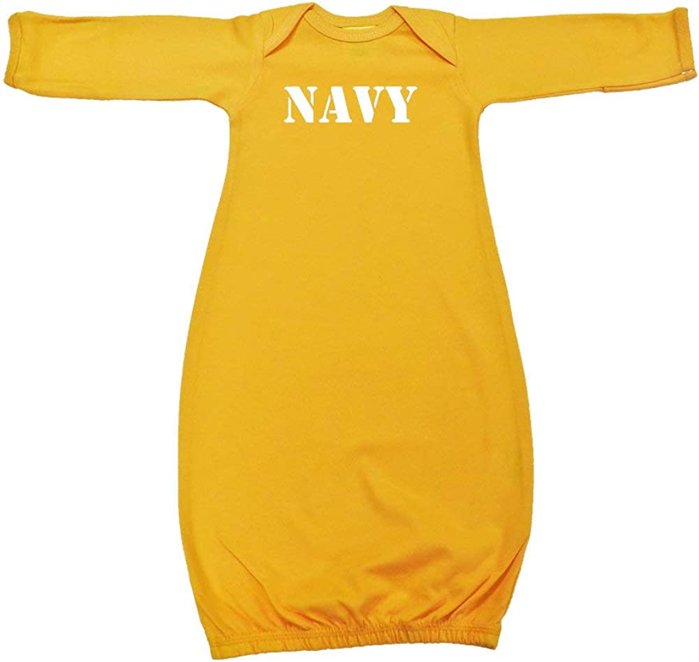 Navy Military Armed Forces Soldier Baby Cotton Sleeper Gown