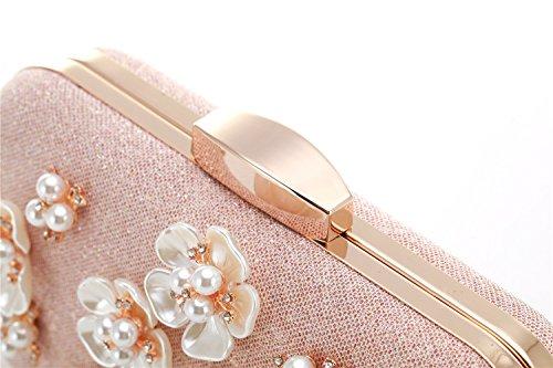 Womens Beaded Wedding Rhinestone Floral Bags Yuenjoy Glitter Purse Clutch Evening AwdOA0qI