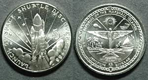 Space Shuttle Discovery Commemorative 1988 $5 The Republic of the Marshall Islands Coin
