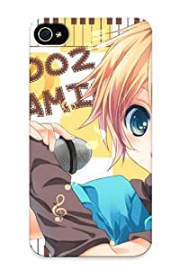 Anettewixom High-end Case Cover Protector For Iphone 4/4s(all Male Collar Kagamine Len Male Microphone Uutan Vocaloid )