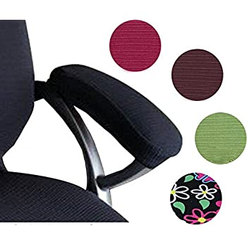 Great Trycooling Set Polyester Removable Durable Machine Washable Office Chair Armrest Slipcovers Covers Pads Length