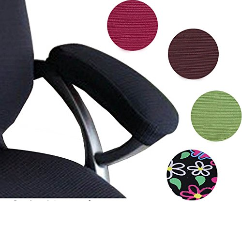 Trycooling-2-Set-Polyester-Removable-Durable-Machine-Washable-Office-Chair-Armrest-Slipcovers-Covers-Pads-Length-30cm