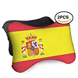 HASKDWHHK Spain Flag Car Neck Pillow (Soft Version)- Neck Pillow, Car Pillow, Memory Foam Neck Pillow, Neck Rest Pillow