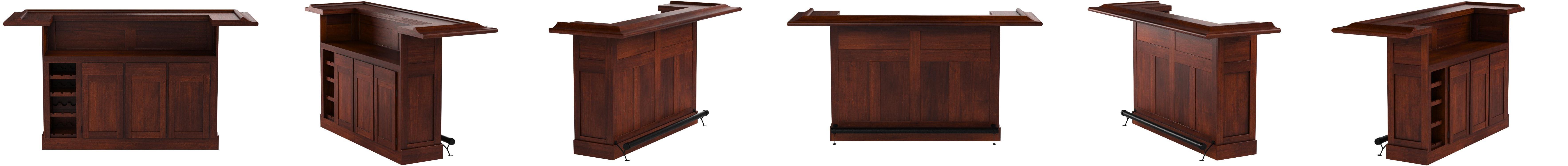 Cherry Finish Hillsdale Furniture 62578ACHE Classic Bar Large