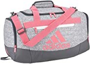 adidas Defender 4 Small Duffel Bag, Grey Jersey/Hazy Rose/Onix/White, One Size