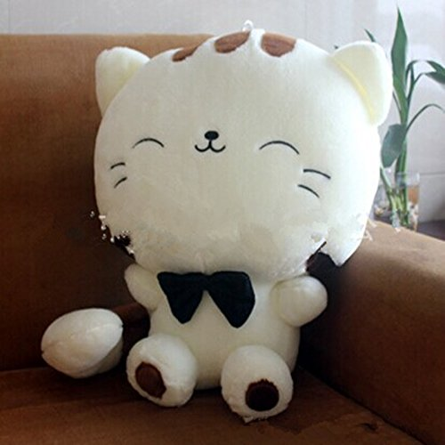 Amazon.com : 80CM Include Tail Cute Large Face Cat Plush Stuffed Toys Pillow Birthday Gift Cushion Fortune Cat Doll Pusheen Kawaii Plush Toys : Baby