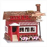 Diner Birdhouse Wood Bird Feed House Feeder Birdfeeder