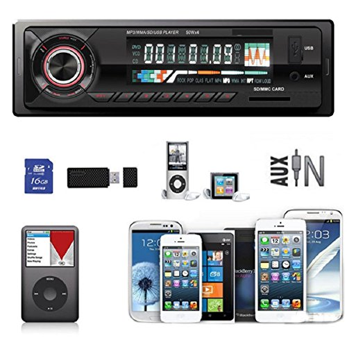 Doinshop (TM) Useful Car Audio Stereo In-Dash Fm Cell Phone Mp3 Player USB SD AUX Input Receiver