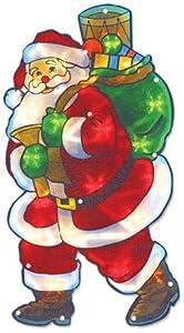 The Benross Christmas Workshop - LED di Babbo Natale, motivo: stop/vietato l'ingresso, in metallo