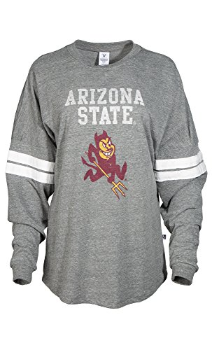 NCAA Arizona State Sun Devils Betty Long Sleeve Tri-Blend Football Jersey T-Shirt, X-Large, Tri - Arizona White Sweatshirt