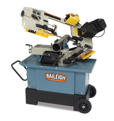 Baileigh BS-712MS Horizontal and Vertical Band Saw, 1-Phase 110/220V, 1hp Motor 1 Phase Horizontal Band Saw
