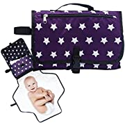 Portable Diaper Changing Pad - Waterproof Baby Travel Bag with Detachable Changing Mat and Storage Compartments
