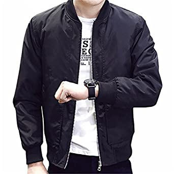 ecea95f844c World2home 2018 Mens Jackets And Coats Casual Style Solid Bomber Jackets Men  Outwear Male Coats Slim Fit Fashion Clothing Plus Size M-4XL  Amazon.in  ...