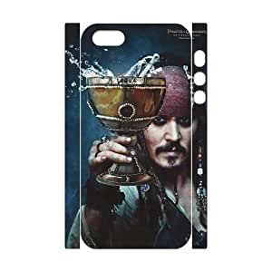 Fashion Diy Pirates of Caribbean 3D Case for iPhone 5,5S ,Customized case MK795046