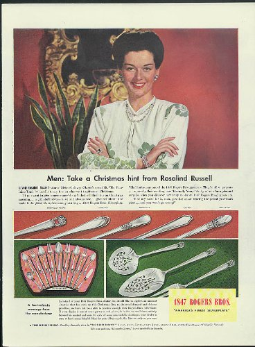 The Feminine Touch for 1847 Rogers Bros Silverplate ad 1941 ()