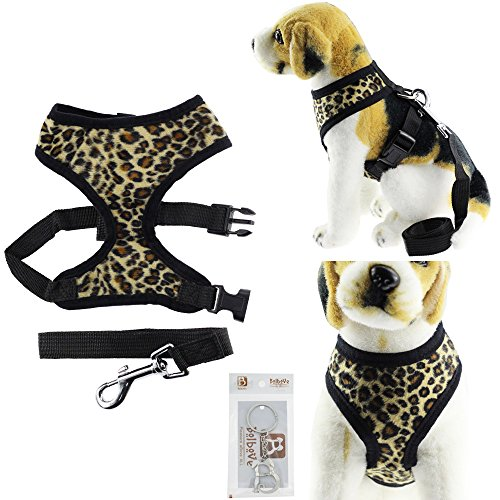 Bolbove-Adjustable-Plush-Leopard-Print-Harness-and-Leash-Set-for-Cats-Small-Dogs