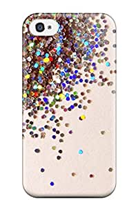 AmandaMichaelFazio Scratch-free Phone Case For Iphone 4/4s- Retail Packaging - Glittery Scatter