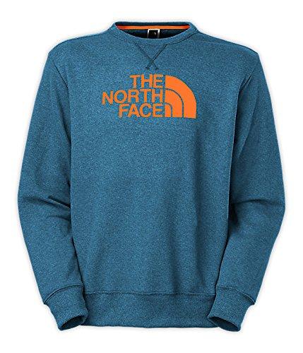 The North Face Men's Half Dome Fleece Crew Neck Tee Snorkel Blue Heather/Burnished Orange Large