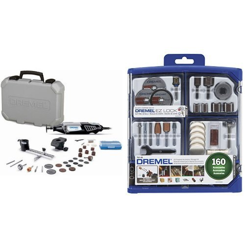 Dremel 4000-2/30 Rotary Tool Kit with 160-Piece All-Purpose Rotary Accessory Kit