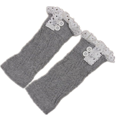 American Trim Lace Trend Grey Cuffs Boot Knit Womens Light Lovely rqrpAT