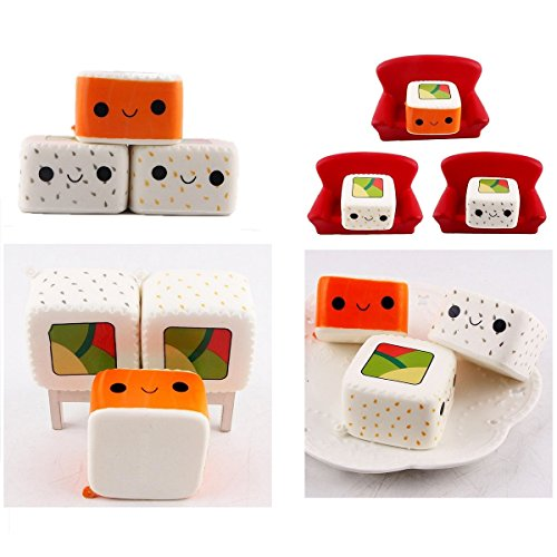 Soft Food Toys : Kawaii squishies toy slow rising cute sushi food soft