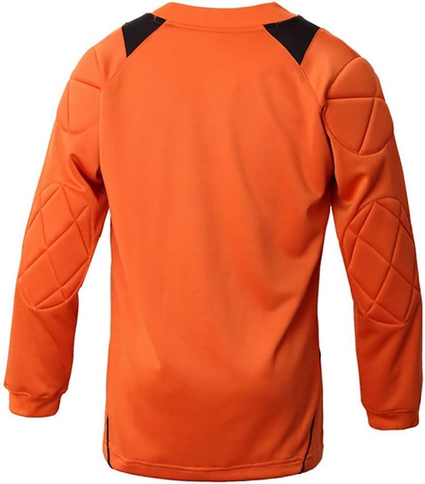 WHSPORT Anti-collision Adults Uniforms Goalkeeper Goal Suit Safty Training Kits Protection Color : Orange, Size : L