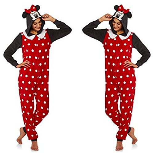 Disney Themed Costumes (Disney Minnie Mouse Women's Union Suit Pajamas (M 8-10))