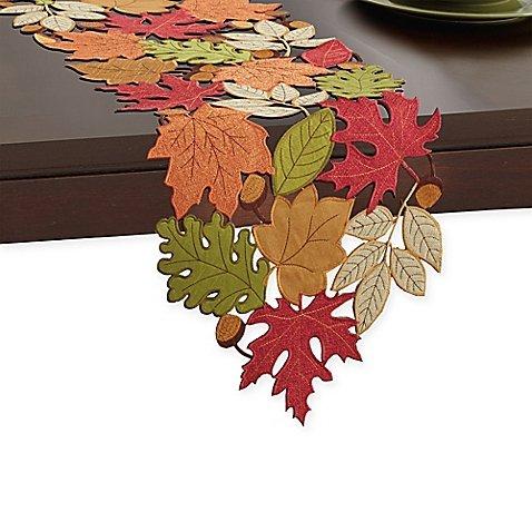 Serene Leaves 72-Inch Table Runner