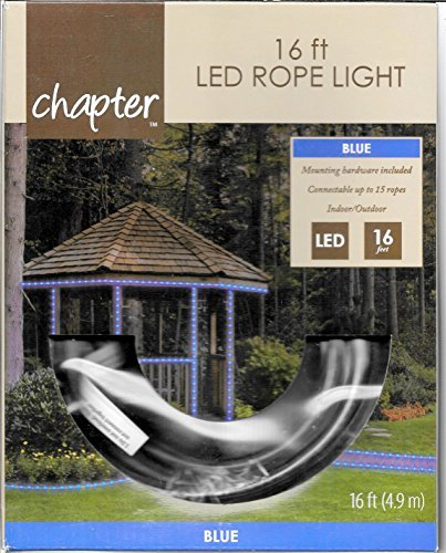 Wal Mart Home Decor - 16 foot LED Rope Light Blue