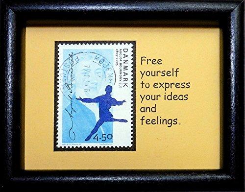 August Bournonville 1805-2005 Dancer Denmark -Framed Postage Stamp Art (2005 Postage Stamps)