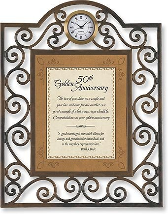 Faithworks 50th Anniversary Metal Framed Tabletop Clock, 7 x 9