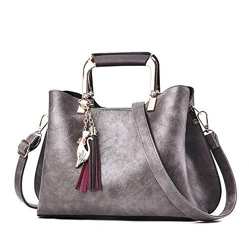 Bolsos Body Para Pu Gris Handbags Capacidad Tote Khakitote Gran Bolso Mujer Zipper Cross Classic Rojo Qztg p5gq1n