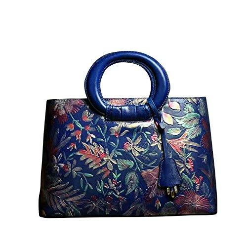 Lederleiter Europa Damen echt Ledertasche Handtasche Schultertasche Beutel Shopper