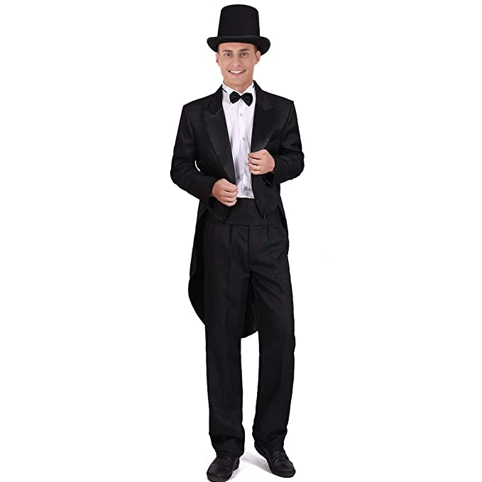 Amazon.com: Disfraz de esmoquin para hombre, clásico ...