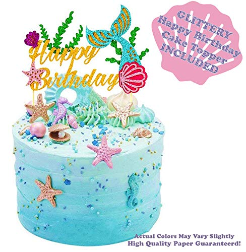 Mermaid Tails Under The Sea Decorations Supplies Kit for Birthday, Bridal & Baby Shower Themed Let's Be Little Mermaids Party - Premium Quality by PomPomGLAM Photo #3