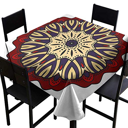 Thanksgiving Tablecloth Flower Mandala Printable Package Decorative Elements Coloring Page Template It is Vector illustrations8,W54 x L54 Square Tablecloth]()